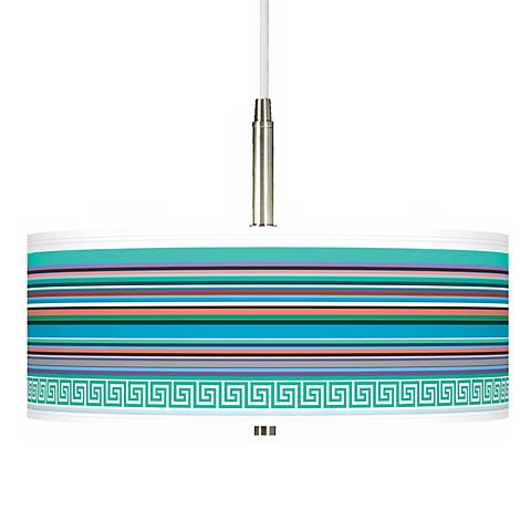 Key West Party Time Giclee Pendant Chandelier