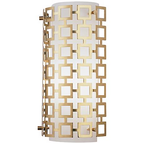 "Jonathan Adler Parker Collection 15"" High Brass Wall Sconce"