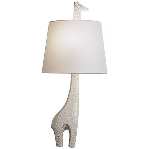 "Jonathan Adler 25 1/4"" High Right Giraffe Wall Sconce"