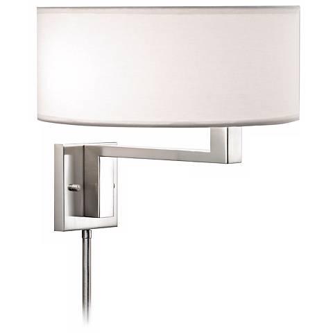 Sonneman Quadratto Satin Nickel Plug-in Wall Lamp