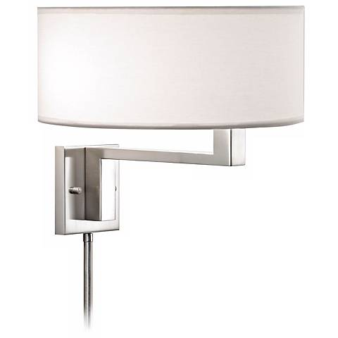 Wall Lamps That Plug In : Sonneman Quadratto Satin Nickel Plug-in Wall Lamp - #H0763 Lamps Plus