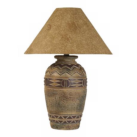 Paprika Hide Shade Southwest Table Lamp