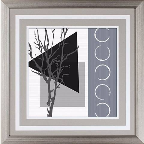 "Grey Tree I Under Glass 18"" Square Wall Art"