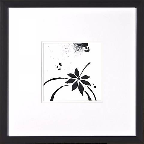 """Leaf Silhouette I Under Glass 20"""" Square Wall Art"""