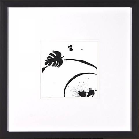 "Leaf Silhouette III Under Glass 20"" Square Wall Art"