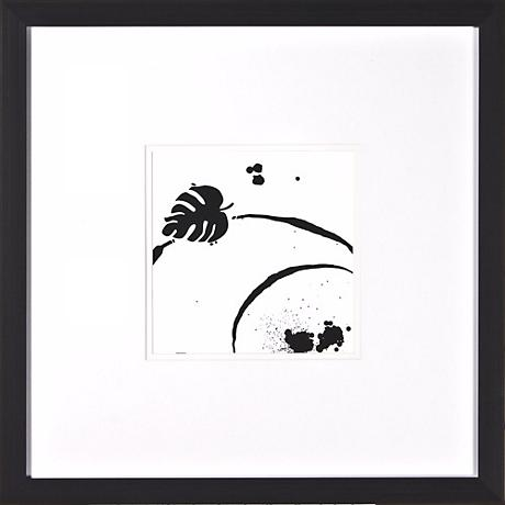 """Leaf Silhouette III Under Glass 20"""" Square Wall Art"""