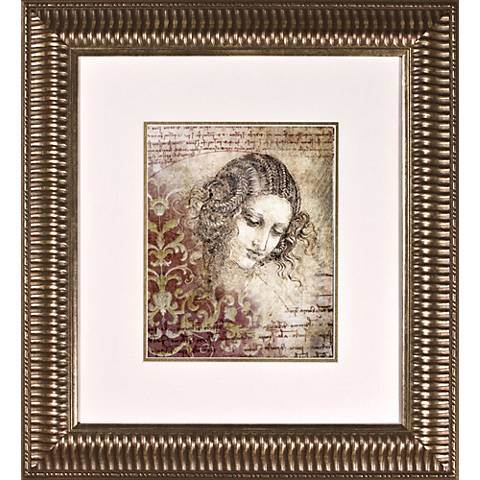 "Ladies of Elegance II Print Under Glass 21"" High Wall Art"
