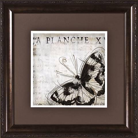 "Butterfly Renderings II Under Glass 19 1/2"" Square Wall Art"