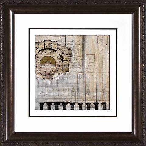 """Architectural Details I Under Glass 19 1/2"""" Square Wall Art"""