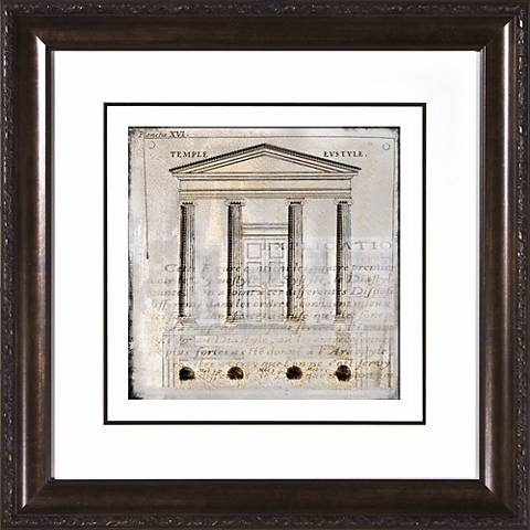 """Architectural Details II Under Glass 19 1/2"""" Square Wall Art"""