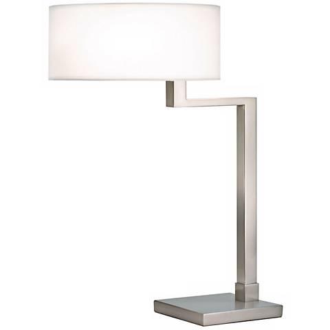 Sonneman Quadratto Satin Nickel Finish Swing Table Lamp