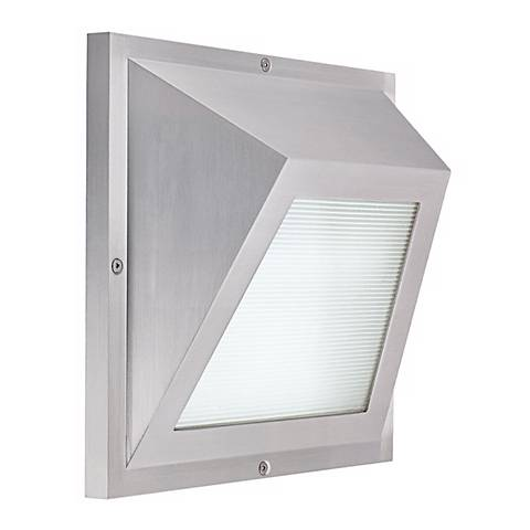 "Edge LED Satin Aluminum 6"" High ADA Outdoor Wall Light"