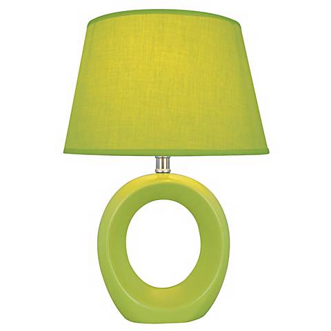 "Lite 15.75"" high Source Kito Green Accent Table Lamp"