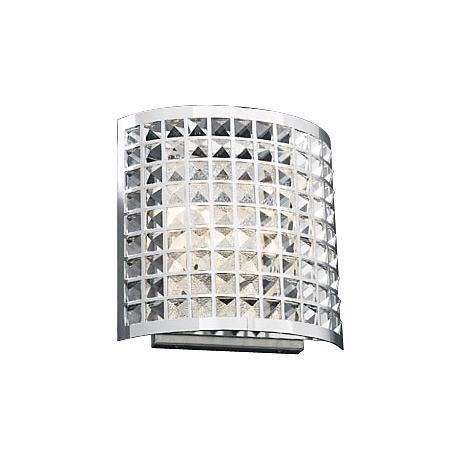 """Deco Crystal and Chrome 12"""" High Wall Sconce"""