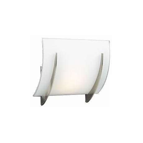 "Opal Glass Curve 8 1/2"" High ADA Wall Sconce"