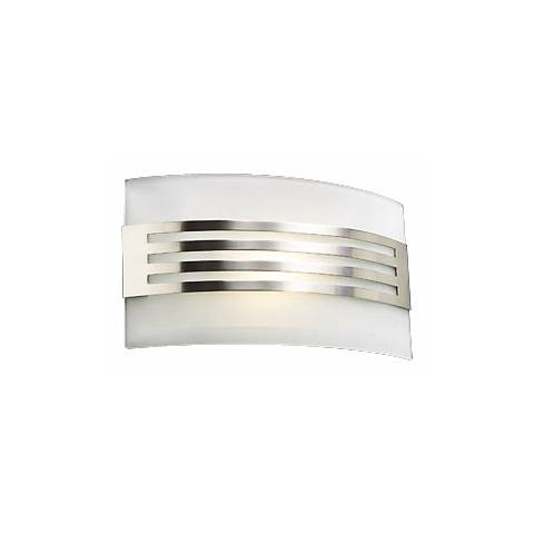 """Acid Frost Glass Deco 7"""" High ADA Wall Sconce"""