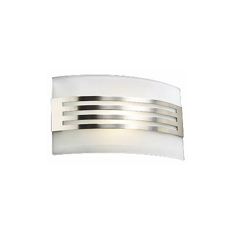 "Acid Frost Glass Deco 7"" High ADA Wall Sconce"