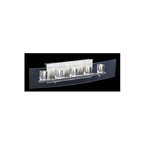 "Clear Glass Cubes 24"" Wide Bathroom Light Fixture"