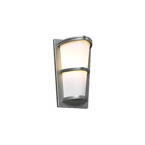 """Allegra Silver 13 1/4"""" High Outdoor Wall Light"""