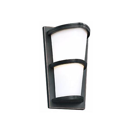 """Allegra Oil-Rubbed Bronze 13 1/4"""" High Outdoor Wall Light"""