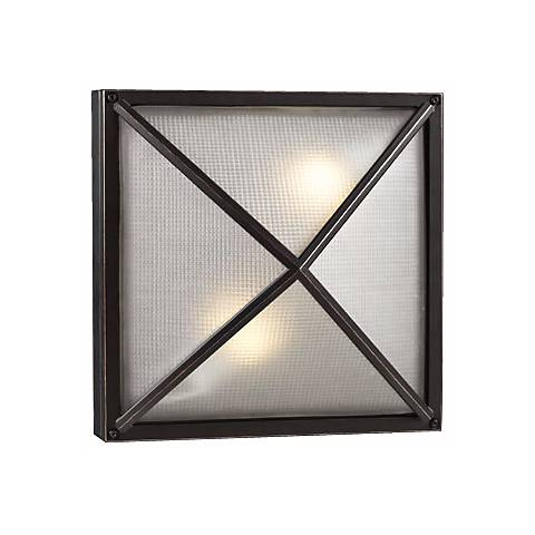 "Deco Square Bronze 12 1/2"" Wide Outdoor Wall Light"