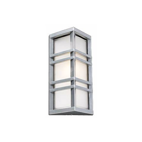 """Trestle Architectural Silver 13 1/4"""" High Outdoor Wall Light"""