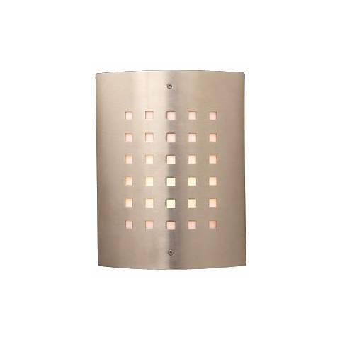"""Deco Checker Pattern 11 3/4"""" High Outdoor Wall Light"""