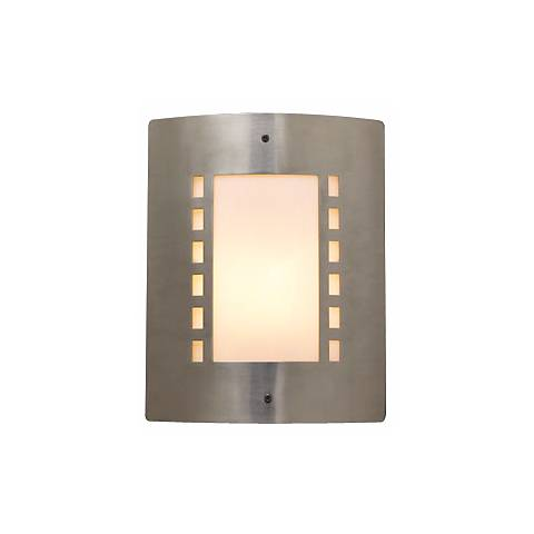 "Deco Geo Pattern 11 3/4"" High Outdoor Wall Light"