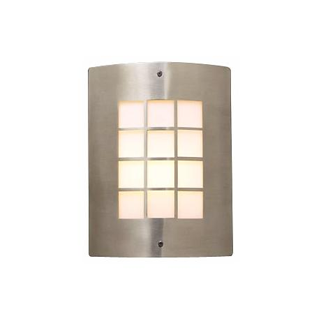 """Deco Grid Pattern 11 3/4"""" High Outdoor Wall Light"""