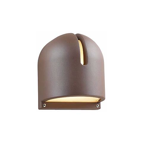 "Architectural Bronze Finish 9"" High Outdoor Wall Light"