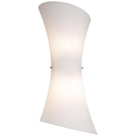 """Conico Collection 20"""" High Frost White 2-Light Wall Sconce"""
