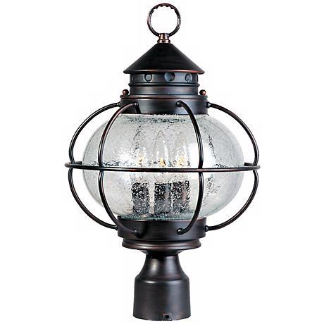 """Nautington 16"""" High Outdoor Post Lantern"""
