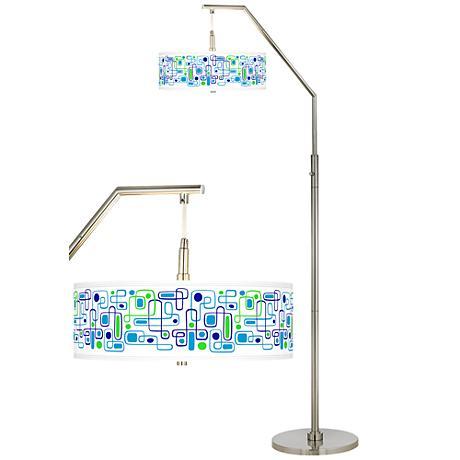 racktrack giclee shade arc floor lamp h5361 15m66. Black Bedroom Furniture Sets. Home Design Ideas