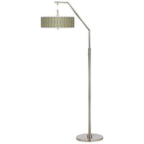 Side By Side Giclee Shade Arc Floor Lamp