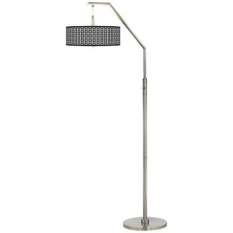 Matrix Giclee Shade Arc Floor Lamp