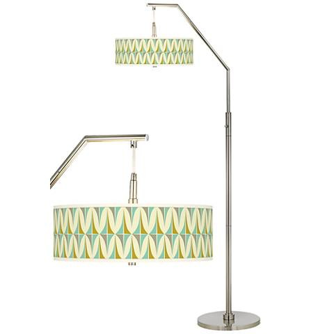 Vernaculis I Giclee Shade Arc Floor Lamp