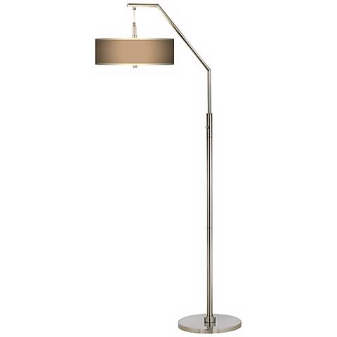 Mesa Tan Giclee Shade Arc Floor Lamp