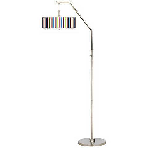Technocolors Giclee Shade Arc Floor Lamp