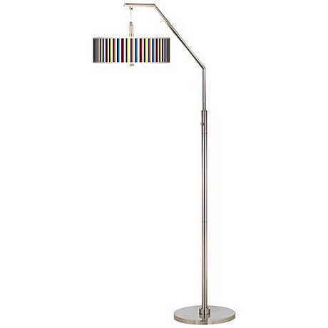 Technocolors Giclee Shade Arc Floor Lamp