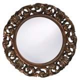 """Glendate Acanthus Leaf Openwork 26"""" Wide Wall Mirror"""