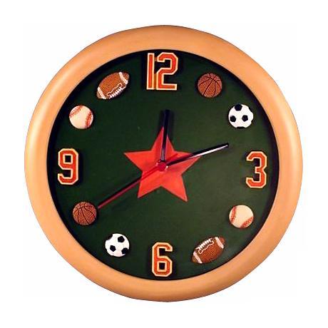 """All Sports 12"""" Wide Wall Clock"""
