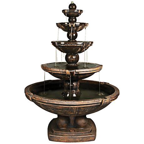 Henri Studio Relic Ebony 5-Tier Spheres Fountain