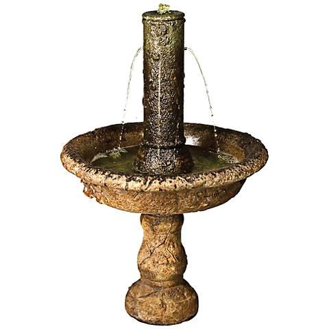 """Henri Studio Relic Unique 39""""H Small Taza Column Fountain"""