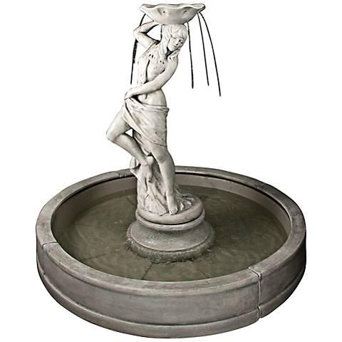 """Henri Studio Lorelei Pompeii Ash Valencia 64"""" Pool Fountain"""