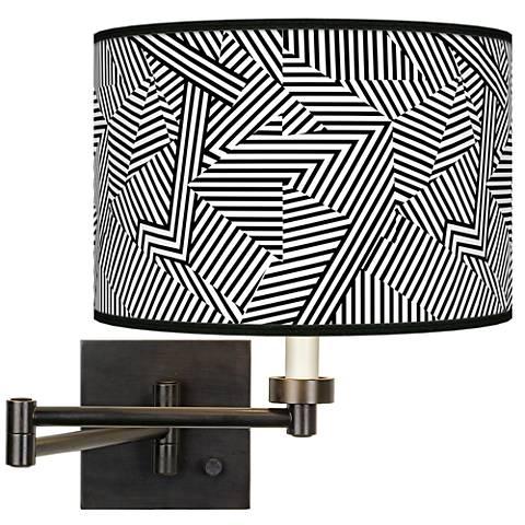 Labyrinth Giclee Bronze Swing Arm Wall Lamp
