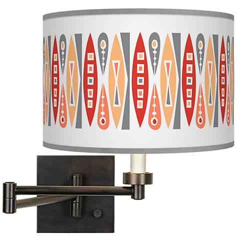Vernaculis VI Giclee Bronze Swing Arm Wall Lamp