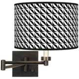 Waves Giclee Bronze Swing Arm Wall Light
