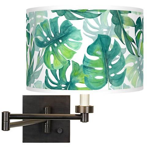 Tropica Giclee Bronze Swing Arm Wall Light