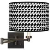 Triangle Illusion Giclee Bronze Swing Arm Wall Lamp