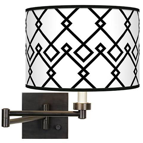 Diamond Chain Giclee Bronze Swing Arm Wall Lamp